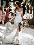 Sweetheart Sexy Middle Slit Mermaid Wedding Dresses Online, Cheap Bridal Dresses, WD652
