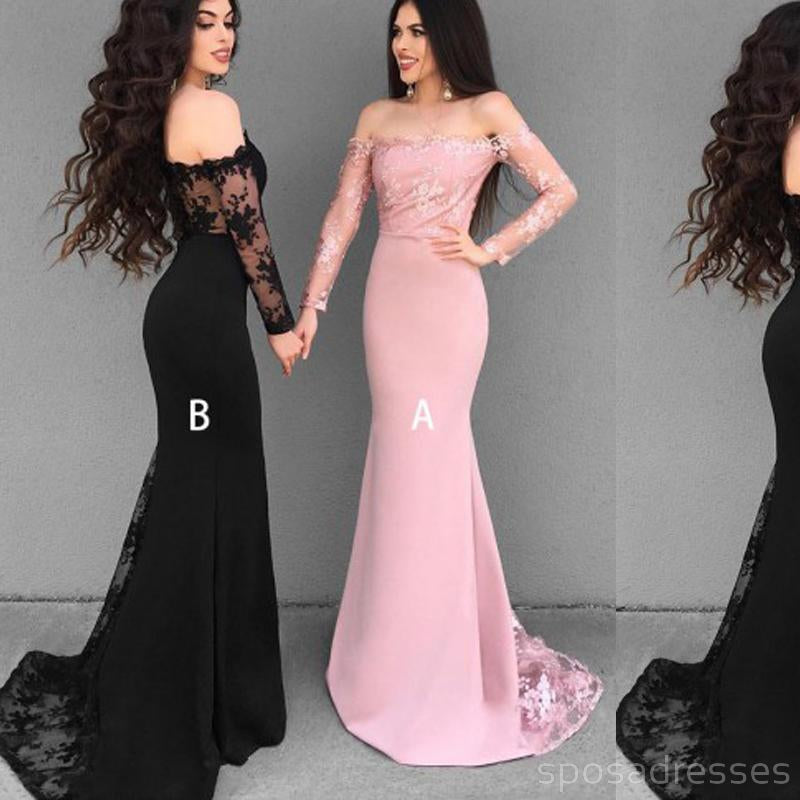 Cheap Simple Mermaid Sweet Heart Sexy Pink Long Wedding Guest Dresses for Maid of Honor, WG142