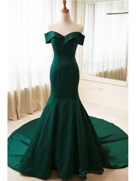 emerald green evening dresses