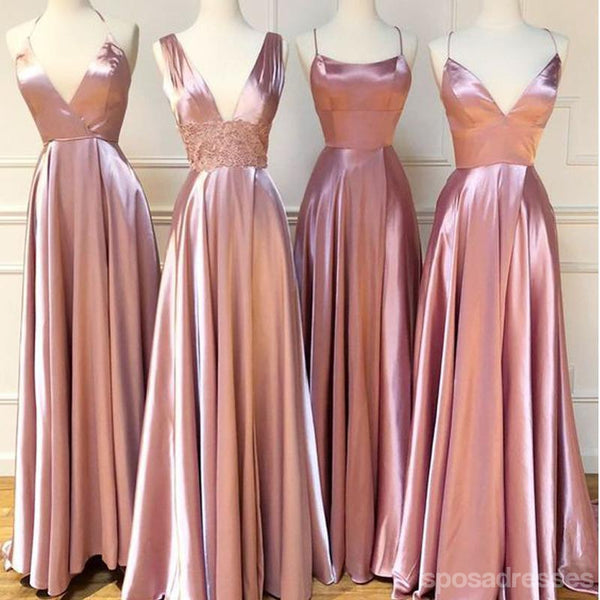 Mismatched Dusty Rose Cheap Bridesmaid Dresses Online, WG772