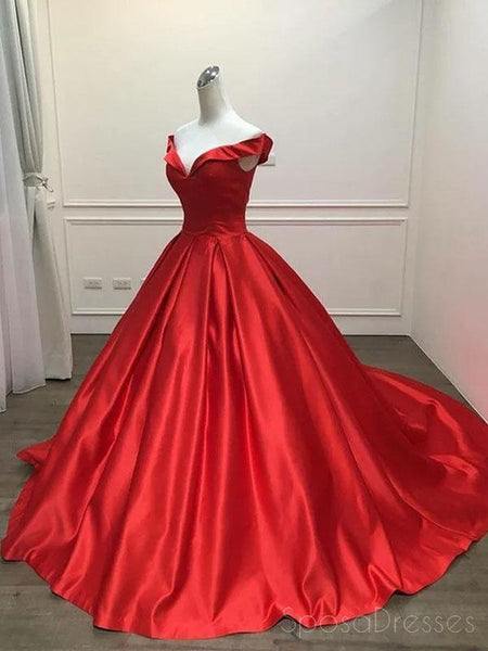 c7ccbacb0ee2 Off Shoulder Bright Red Long Evening Prom Dresses, Cheap Custom Sweet 16  Dresses, 18515