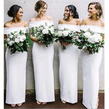 Off White Mermaid Long Bridesmaid Dresses Online, Cheap Bridesmaids Dresses, WG705