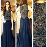 Navy Prom Dresses, Long Prom Dresses, Popular Prom Dresses, Pretty Prom Dresses,Best Sales Prom Dresses,Party Prom Dresses,Evening Prom Dresses, PD0006