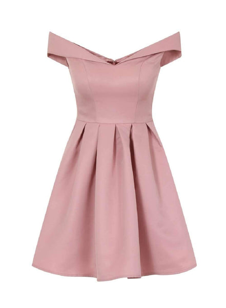 Off Shoulder Pink Cheap 2018 Homecoming Dresses Under 100, CM401