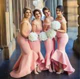 Off Shoulder Mermaid Long Bridesmaid Dresses Online, Cheap Bridesmaids Dresses, WG710