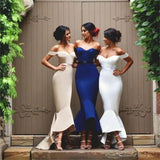 Off Shoulder Prom Dresses,Sweetheart Mermaid Prom Dresses,Custom Bridesmaid Dresses, Wedding Party Dresses,Long Bridal Gowns, PD0007