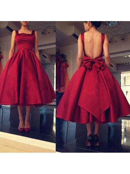 Sexy Backless Red Short Cheap Homecoming Dresses Online, CM580