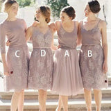 Mismatched Custom Short Lace Cheap Bridesmaid Dresses Online, WG265