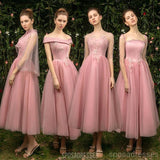 Unique Pink Short Mismatched Cheap Bridesmaid Dresses Online, WG541