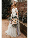 Short Sleeves Lace Unique Cheap Wedding Dresses Online, Cheap Bridal Dresses, WD489