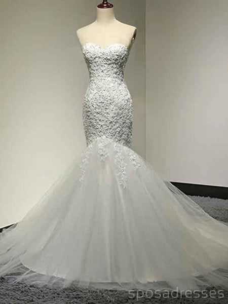 Sweetheart Lace Mermaid Cheap Wedding Dresses Online, Cheap Bridal Dresses, WD515