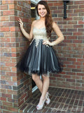 Sweetheart Grey Skirt Cheap Short Homecoming Dresses Online, CM671
