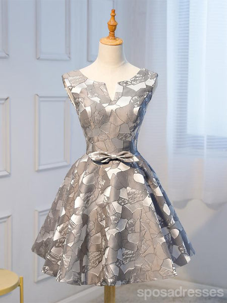 Unique Grey Cheap Short Homecoming Dresses Online, CM665