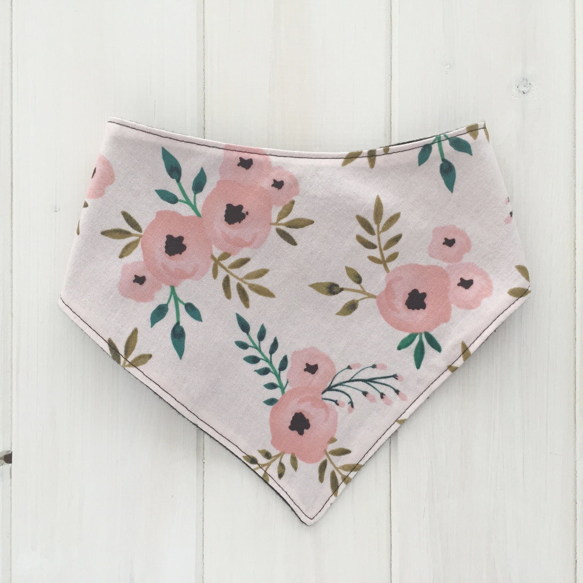 Watercolour Rose Bandana Bib