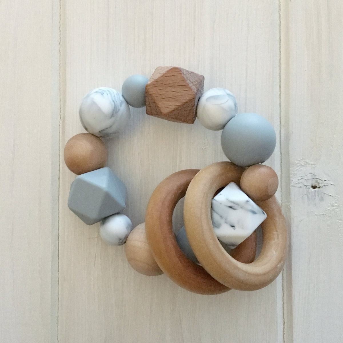 Perfect Neutral Silicone Teething Rattle