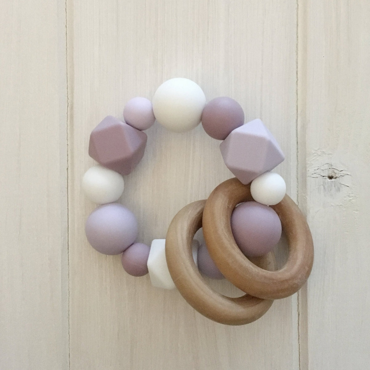 Lavender Fields Silicone Teething Rattle
