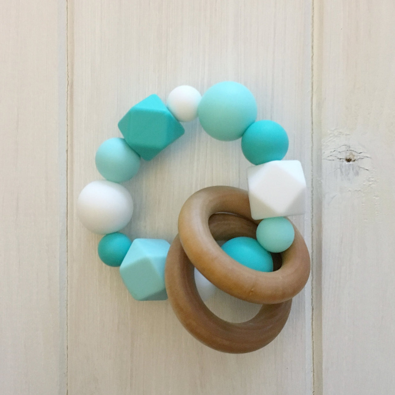 Ocean Blue Silicone Teething Rattle