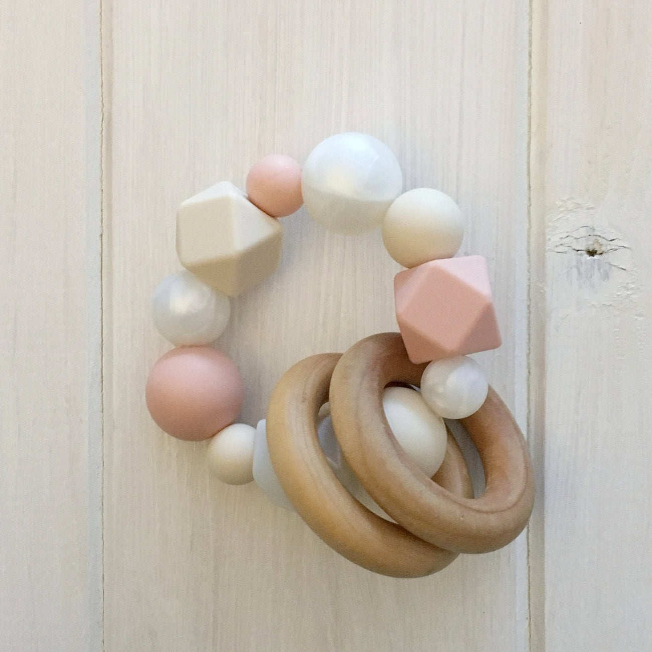 Just Peachy! Silicone Teething Rattle