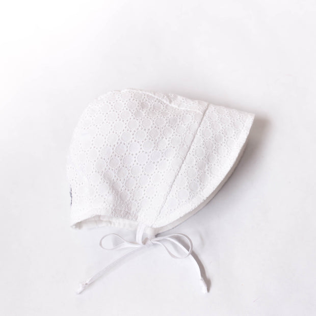 Custom Eyelet Lace Bonnet