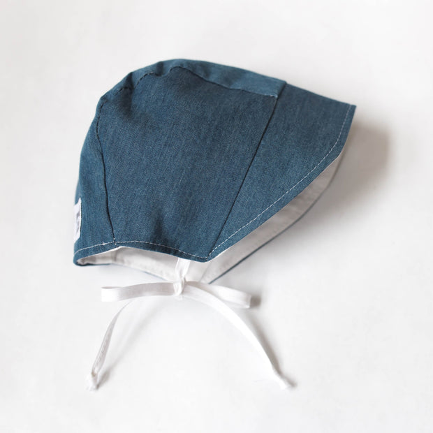 READY TO SHIP Chambray Bonnet with Sun Brim