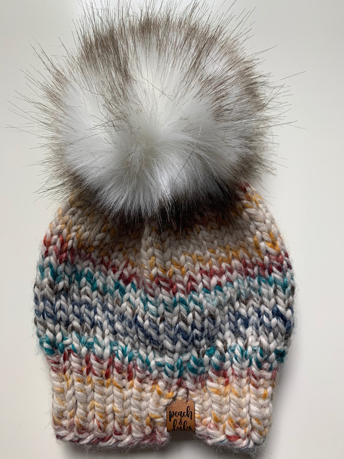 READY TO SHIP Solid Hudson Toque with White Pom