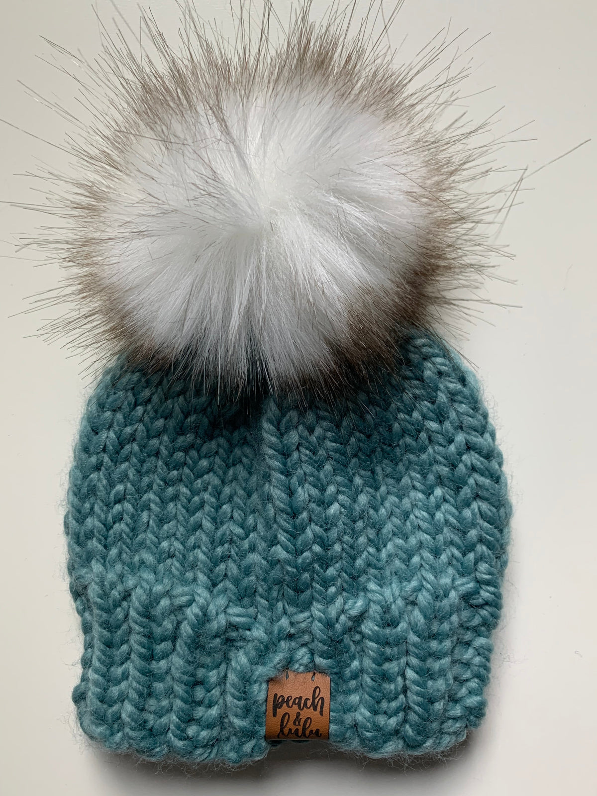 READY TO SHIP Solid Succulent Toque with White Pom