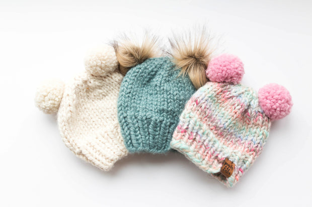 Custom Toque with Double Pom-Pom