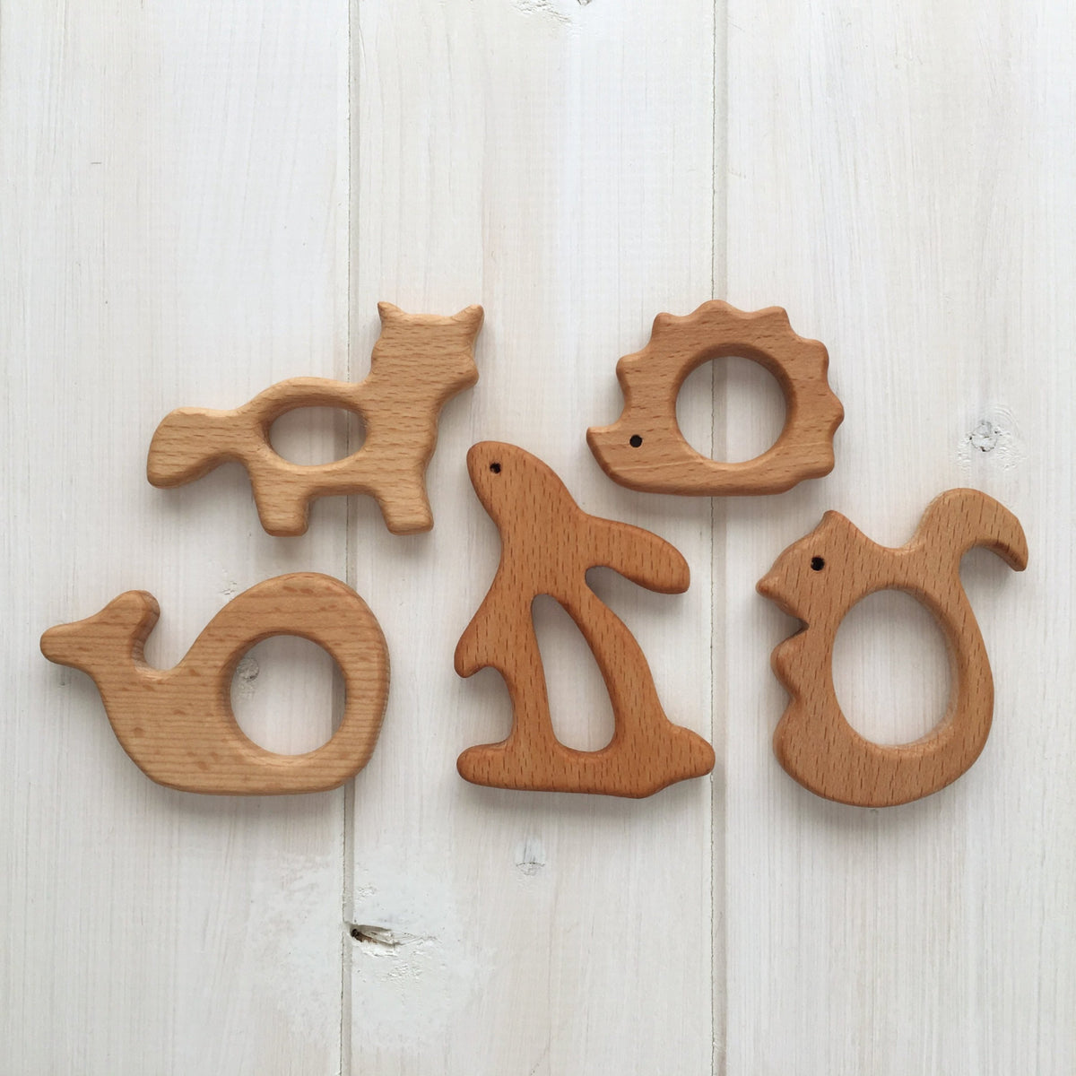 Wood Animal Teething Accessory