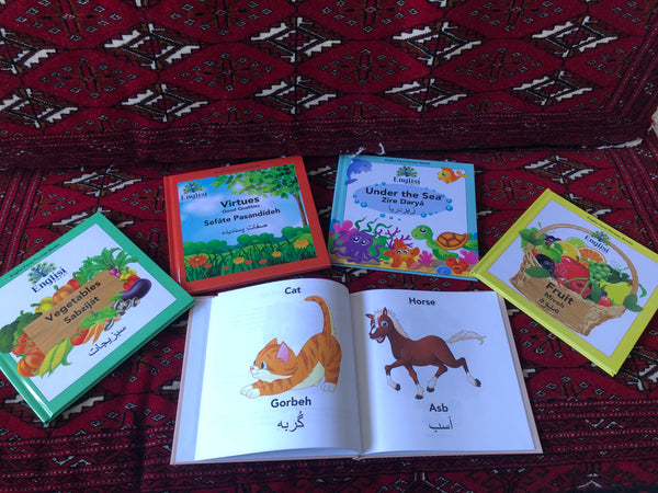Englisi Farsi Persian Books Bundle 🦒 🍉 🥕 🐳 🌳  LUX HARD COVER