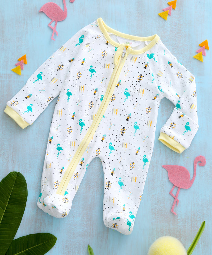 Boho Flamingo - Sleeper Onesie