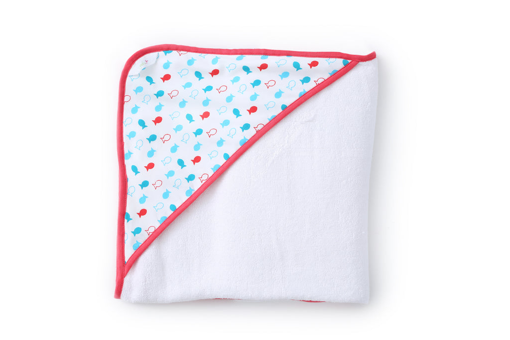 Fishy Pop - Hooded Towel