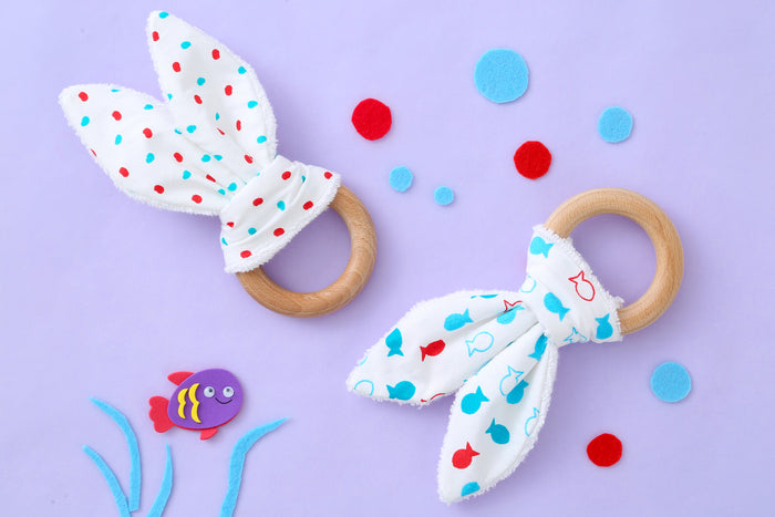Fishy Pop - Bunny Teethers Set
