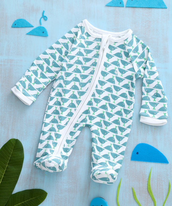 Mighty Whale - Sleeper Onesie