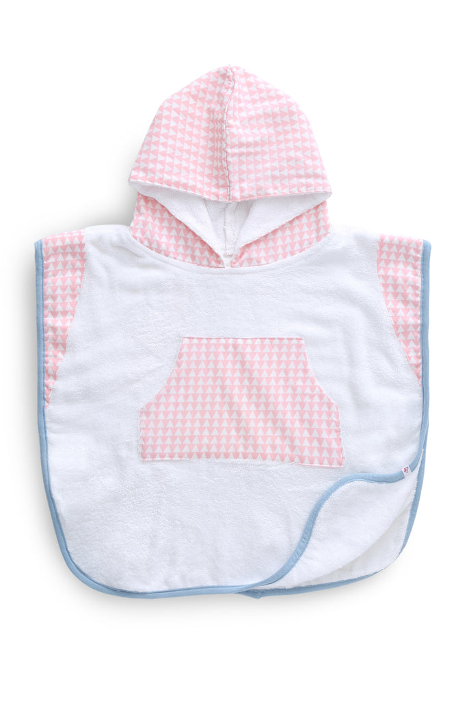 Pink Array - Hooded Poncho