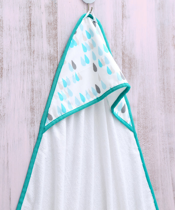 Raindrops - Hooded Towel