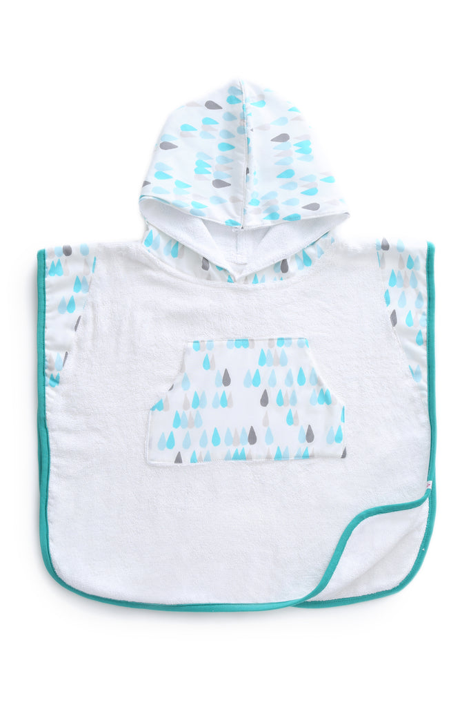 Raindrops - Hooded Poncho