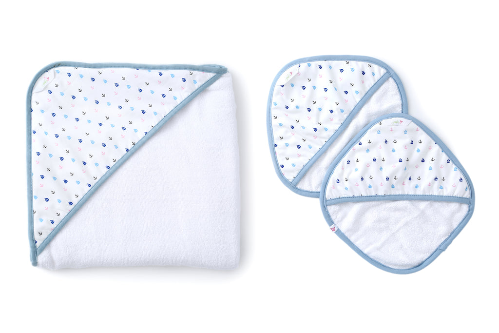 Sail Away - Baby Towel Set