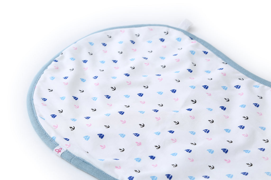 Sail Away - Bib & Burp Cloth