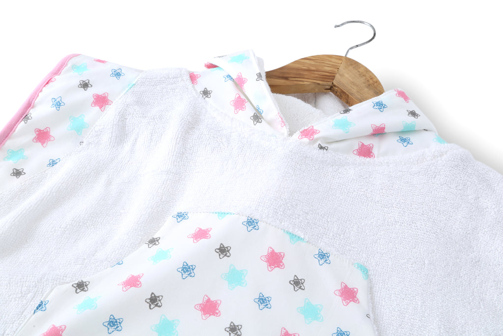 Starry Day - Hooded Poncho