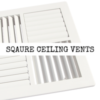 Square Ceiling Vents