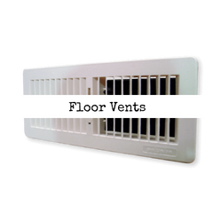 Floor heating vent and grille collection