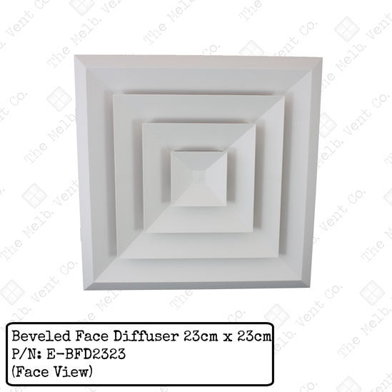 Beveled Face Diffuser - 23cm x 23cm - The Melbourne Vent Company