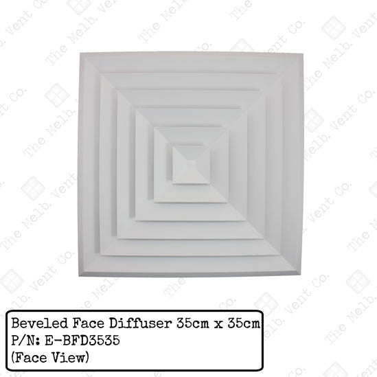 Beveled Face Diffuser - 35cm x 35cm - The Melbourne Vent Company