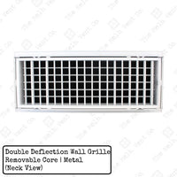 Wall Grille - Double Deflection - Removable Core - 30cm x 10cm - The Melbourne Vent Company