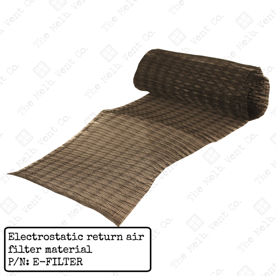 Return air filter material - Electrostatic