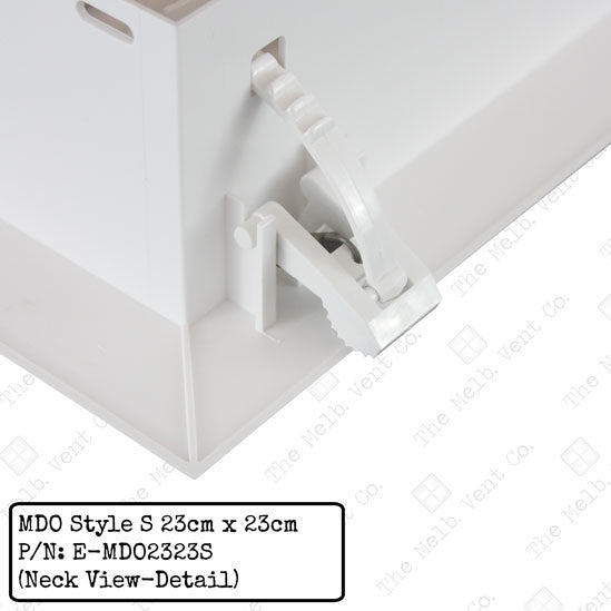 Multi Directional Outlet (MDO) - 23cm x 23cm - Style S - The Melbourne Vent Company