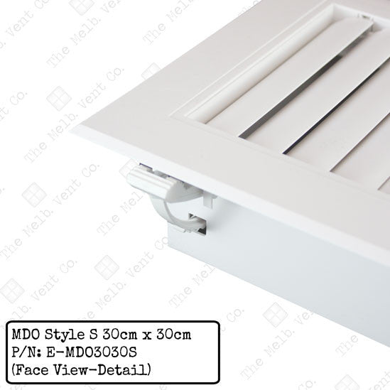 Multi Directional Outlet (MDO) - 30cm x 30cm - Style S - The Melbourne Vent Company