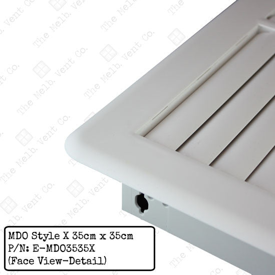 Multi Directional Outlet (MDO) - 35cm x 35cm - Style X - The Melbourne Vent Company