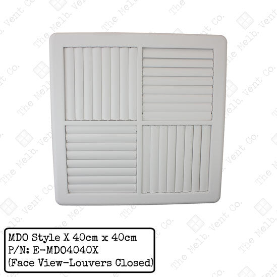Multi Directional Outlet (MDO) - 40cm x 40cm - Style X - The Melbourne Vent Company