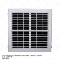 Return Air Grille - Plastic builders choice 370mm x 370mm